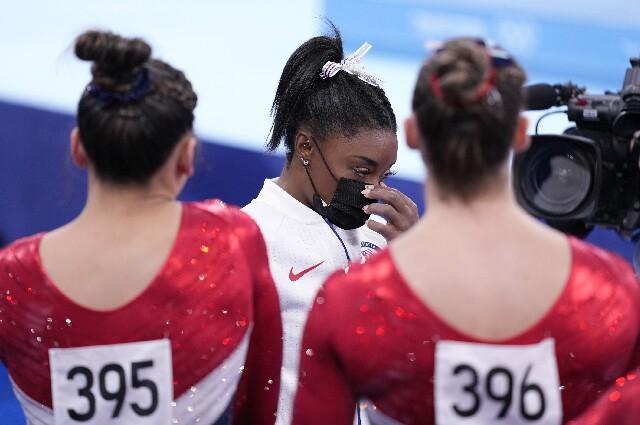 Simone Biles, en los Juegos Olímpicos de Tokio
