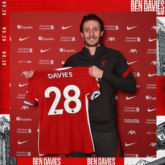 Ben Davies, jugador del Liverpool