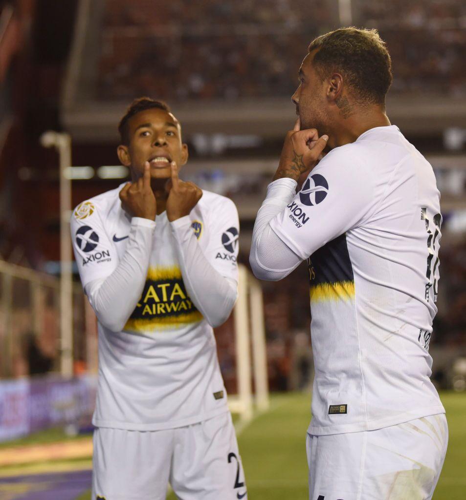 Sebastián Villa y Edwin Cardona, jugadores Boca Juniors