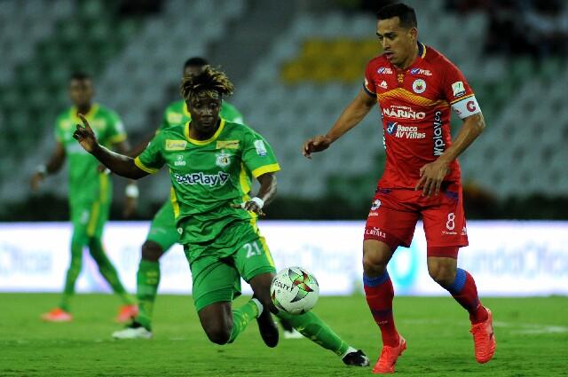 Deportes Quindío contra Deportivo Pasto, en Liga colombiana