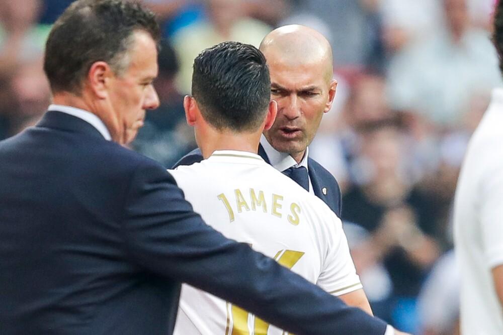James Rodríguez Zinedine Zidane Real Madrid 160920 Getty Images E.jpg