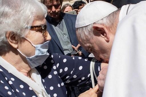 Lidia Maksymowicz y el papa Francisco