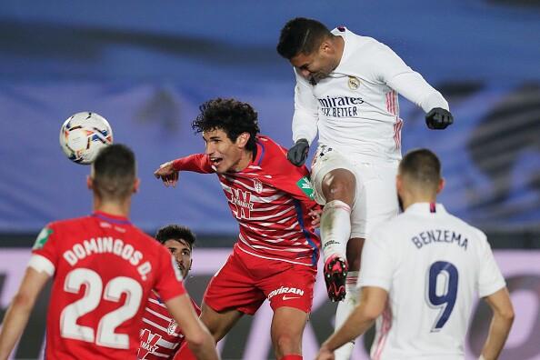 Casemiro Real Madrid vs Granada