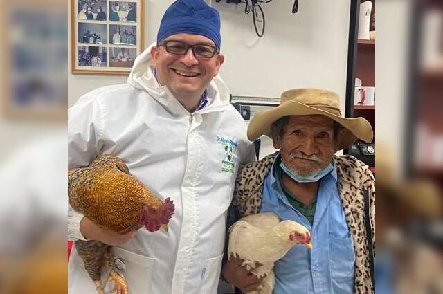 paga con dos gallinas su cirugia