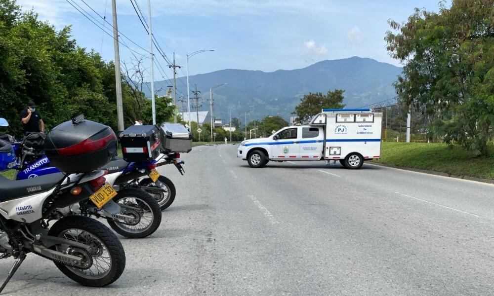 Ciclista murió atropellado en Sabaneta, Antioquia.jpeg
