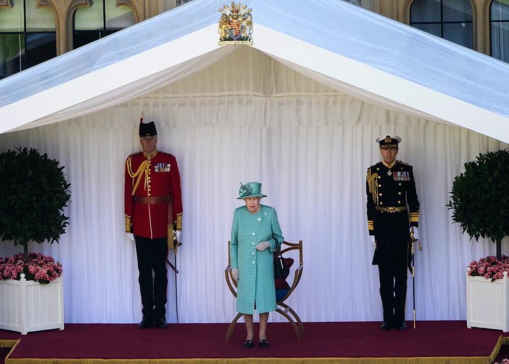 367386_Ceremonia de cumpleaños Reina Isabel ll / Foto: AFP