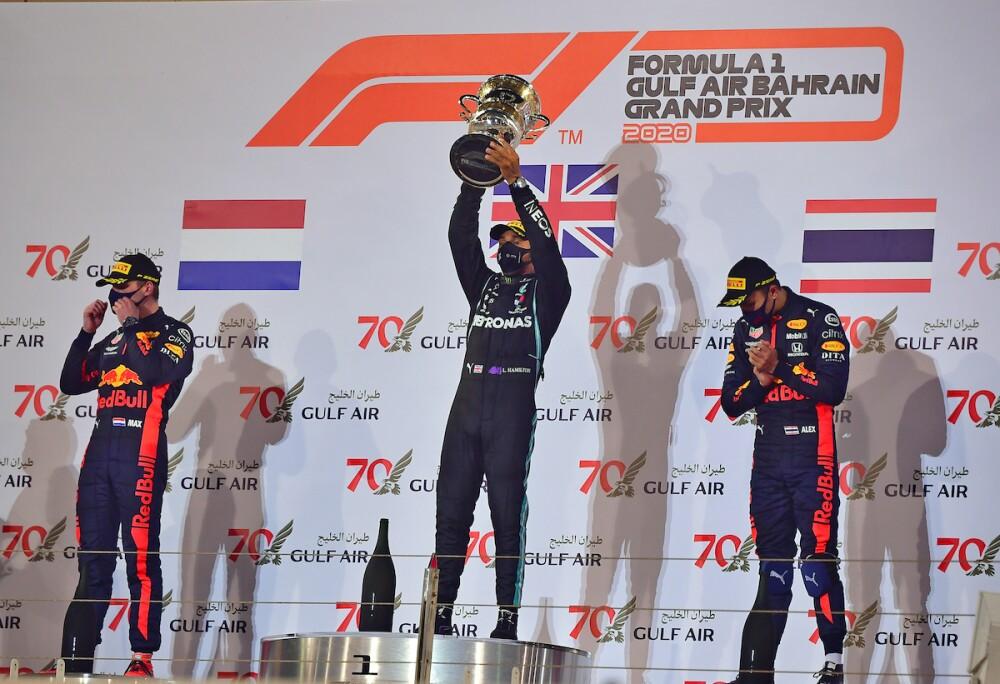 Lewis Hamilton gana en Baréin / AFP