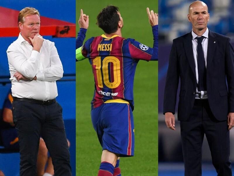 Ronald Koeman, Lionel Messi y Zidane
