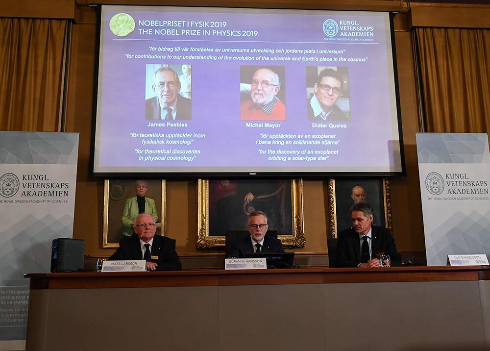 345287_BLU Radio // Premio Nobel de Física 2019 // Foto: AFP