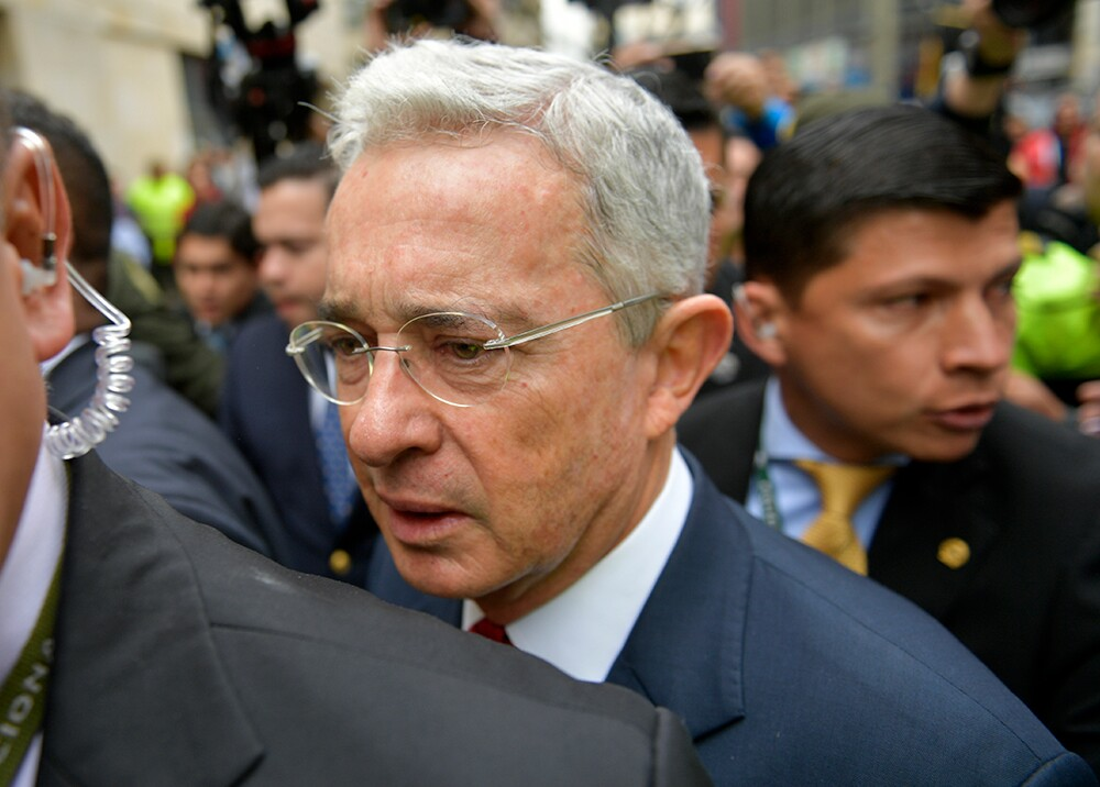 353432_Álvaro Uribe // Foto: AFP