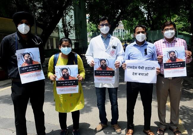 medicos protestan contra guru india_afp