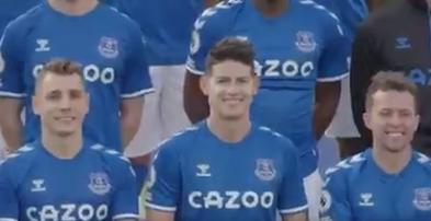 James Rodríguez, jugador colombiano del Everton.