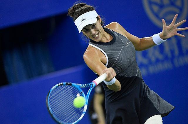 Garbiñe Muguruza clasificó a cuartos de final en el Torneo de Wuhan