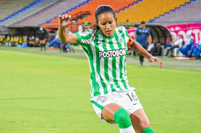 Lady Andrade, jugadora de Atlético Nacional Femenino