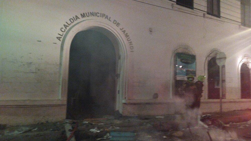 Incendio Alcaldía Jamundí