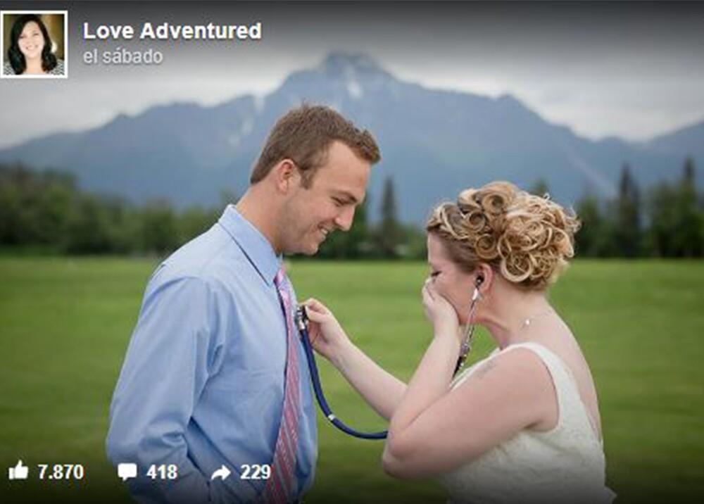 4634_La Kalle. Mujer conoce el hombre al que su hijo donó el corazón el día de su boda / Foto: Facebook Love Adventured