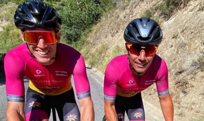 Aleix Espargaró y Joaquim 'Purito' Rodríguez. Instagram: @aleixespargaro