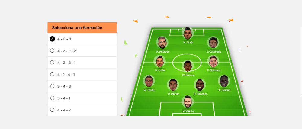 Arma tu Selección Colombia con Gol Caracol