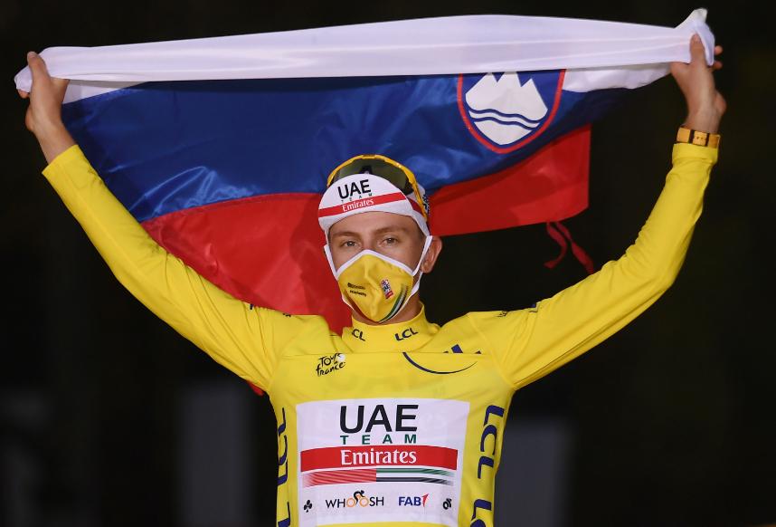 Tadej Pogacar, ciclista esloveno.
