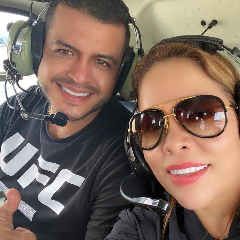 Sandra Barrios con su nuevo novio