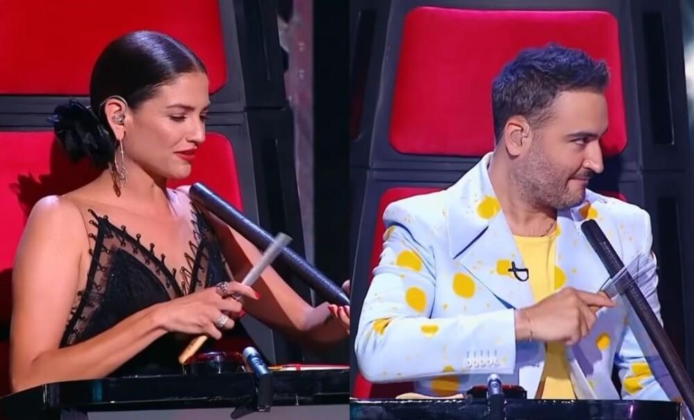 Jesús Navarro y Natalia Jiménez se le midieron a tocar guacharaca.