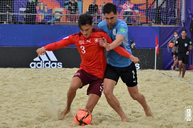 Suiza contra Uruguay, en el Mundial de Fútbol Playa