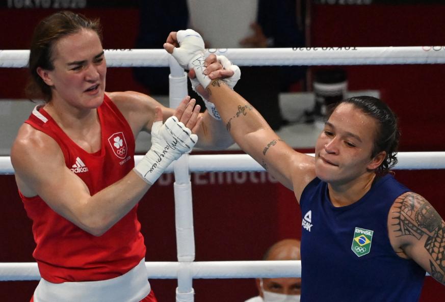 Kellie Anne Harrington venció a Beatriz Ferreira en el boxeo de los Juegos Olímpicos Tokio 2020.