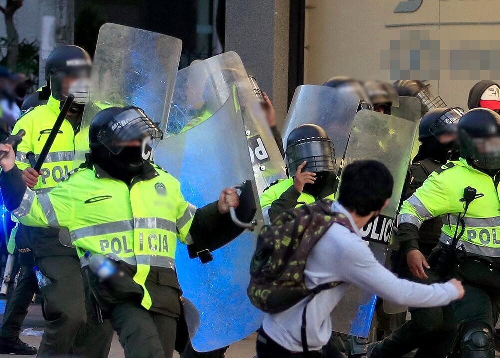 Policía y Esmad en protestas