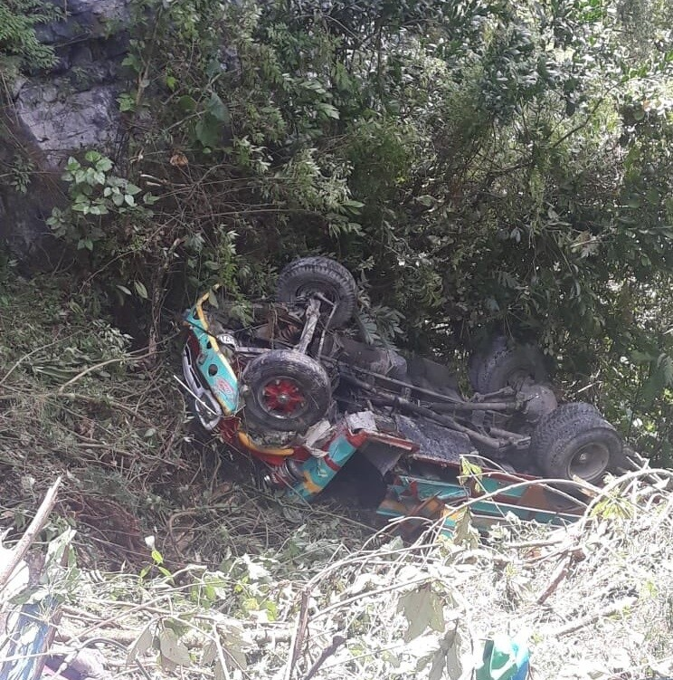 352653_BLU Radio// Accidente de bus en Santander. Foto: Suministrada