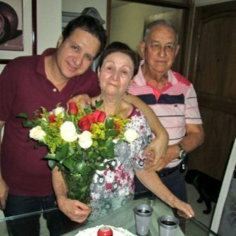 Johan Yepes, Doña Ligia y Pedro Nel