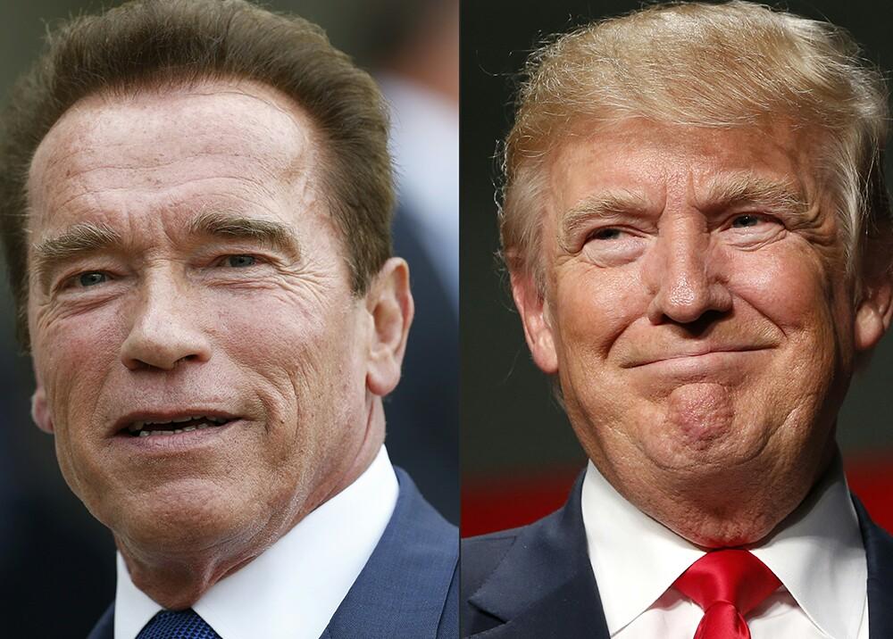 277754_Arnold Schwarzenegger y Donald Trump - Foto: AFP