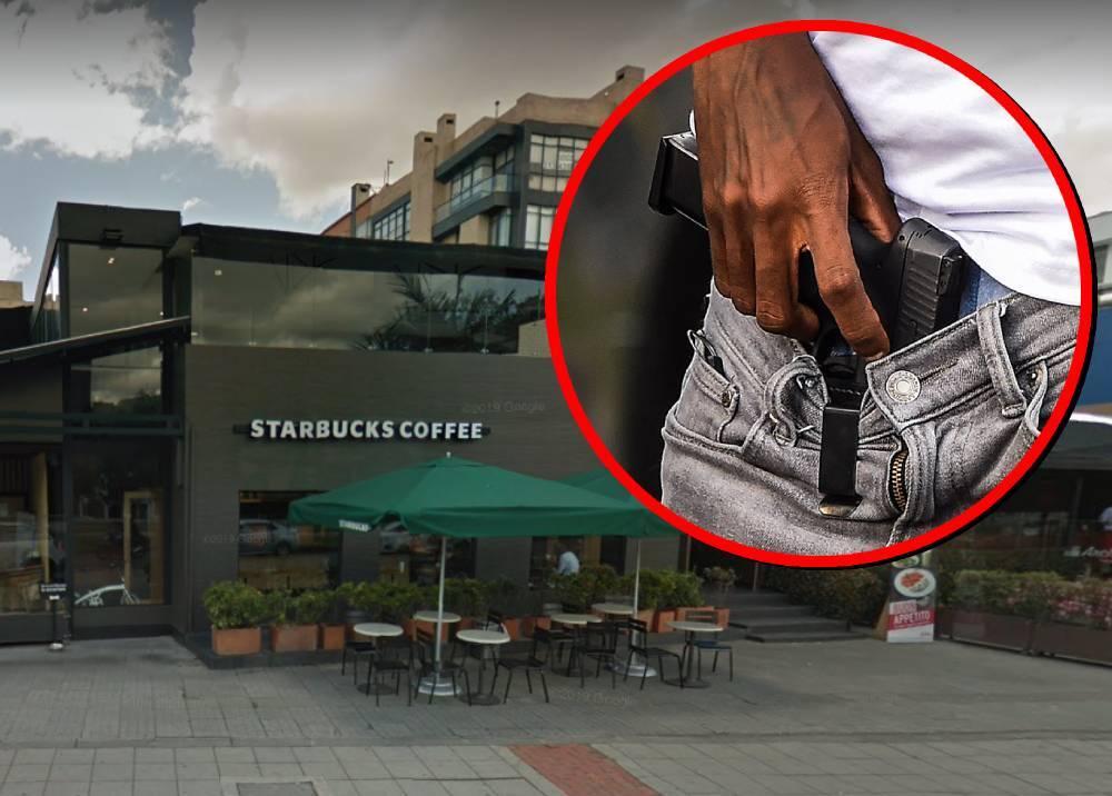 Robo en local de Starbucks Coffee de la calle 116 con carrera 17
