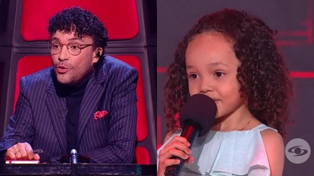 Andrés Cepeda y Mariángel se enfrentan para saber quién tiene el mejor cabello del programa.