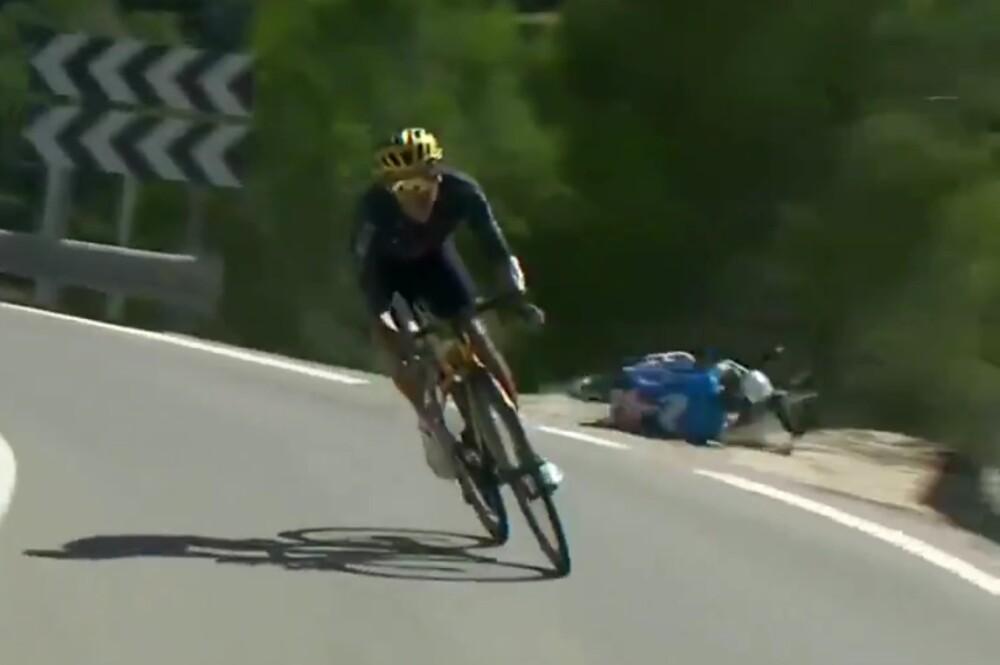 Caída de Alejandro Valverde