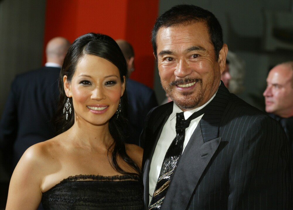 Lucy Liu and Sonny Chiba