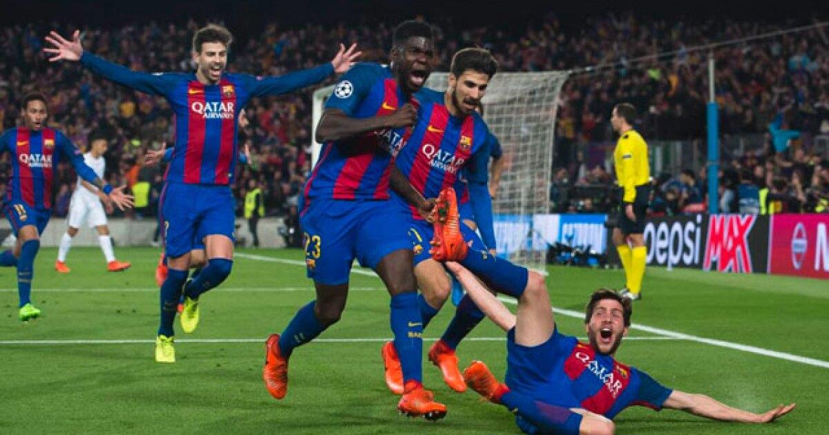 Se viene Barcelona vs PSG, por Champions, y en Europa recuerdan la remontada histórica por 6-1