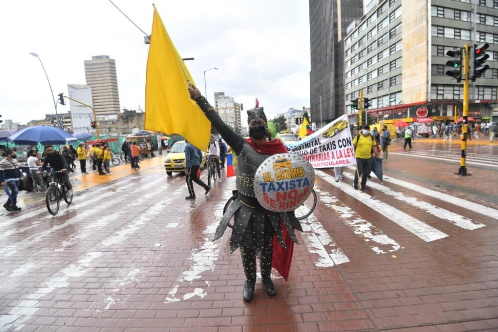 Protestas por paro nacional en Colombia. Foto AFP