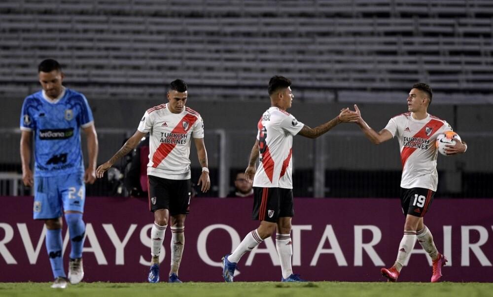 Santos Borre y Jorge Carrascal, jugadores River Plate