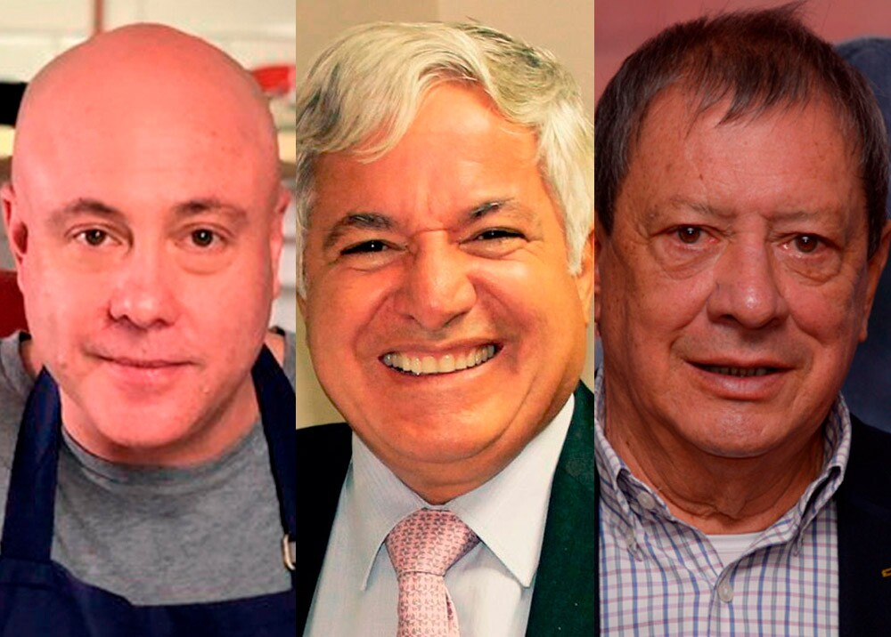 371263_Jorge Rausch, Jean Claude Bessudo y Mario Hernández // Fotos: Twitter Jorge Rausch, Facebook Jean Claude Bessudo y UCC