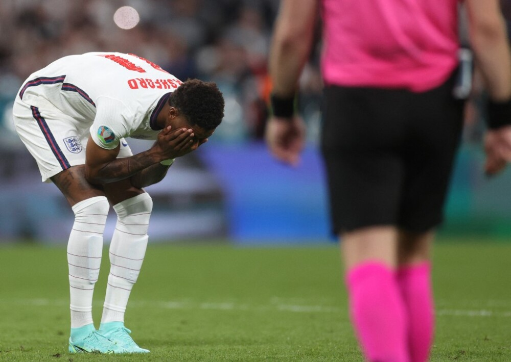 Marcus Rashford, tras fallar su penalti en la final de la Eurocopa.