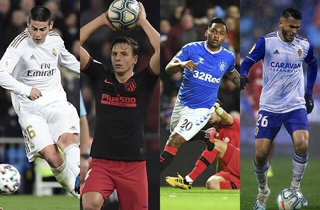 335427_James Rodríguez, Santiago Arias, Alfredo Morelos y Luis Suárez