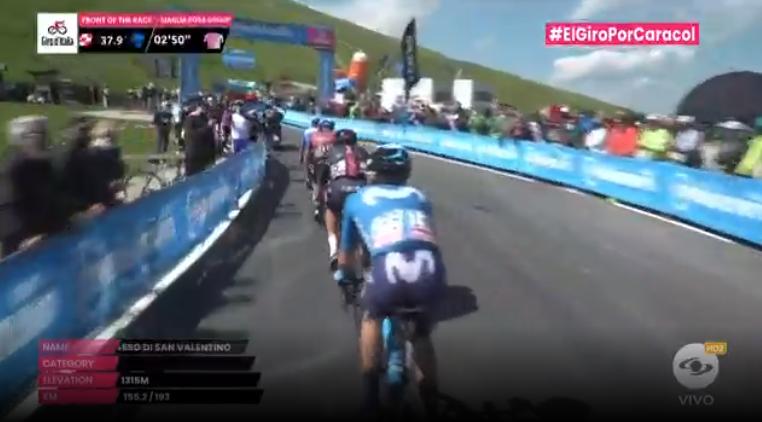 Premio montaña primera categoría etapa 17 Giro de Italia