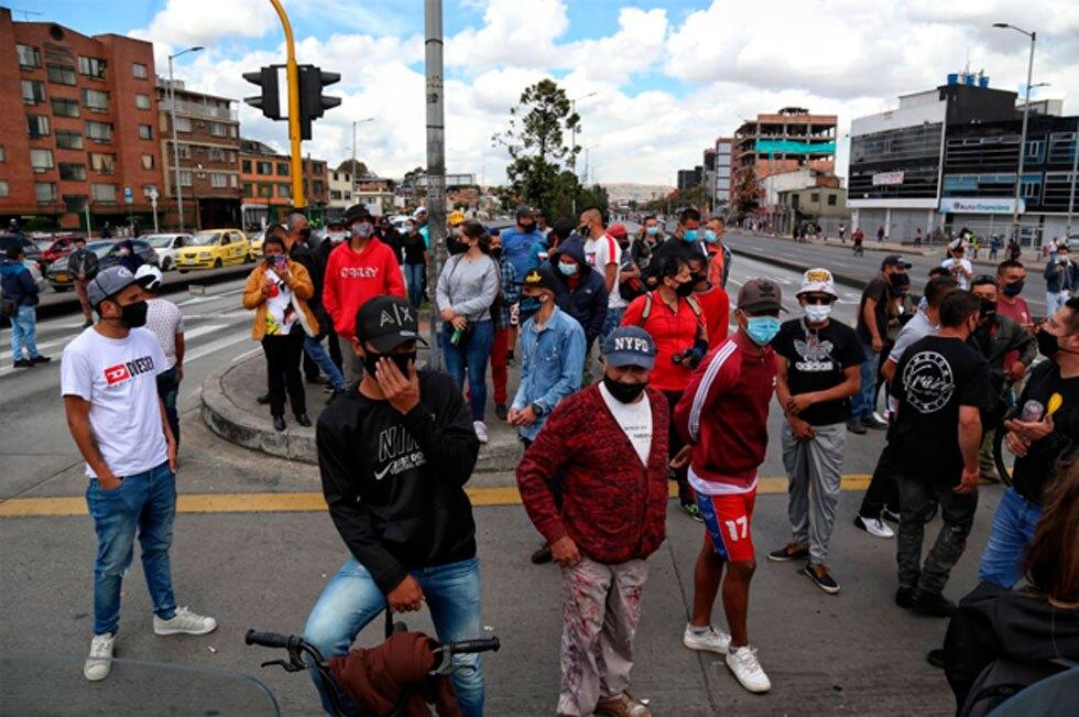 Protestas en Bogotá hoy 16 de abril