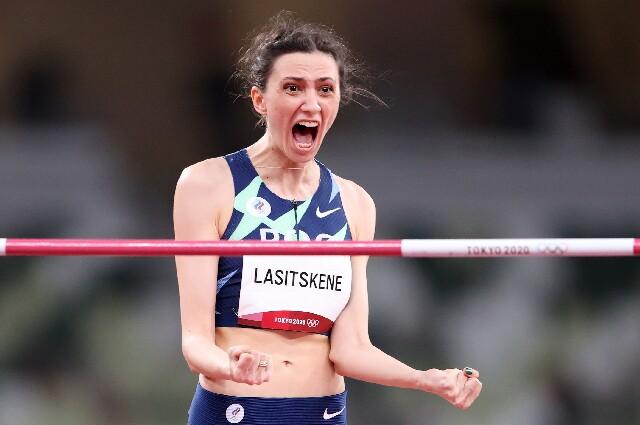 Mariya Lasitskene, en los Juegos Olímpicos de Tokio 2020