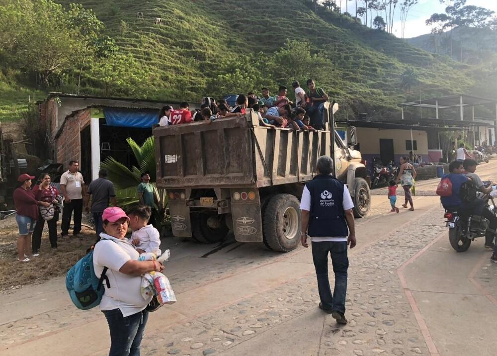 319162_Desplazados en Hacarí, Norte de Santander - Foto: Defensoría del Pueblo