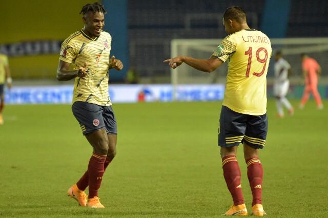 Delanteros titulares de la Selección Colombia