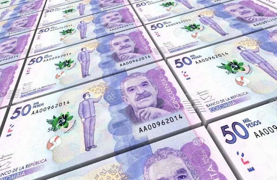 Billetes de 50.000 pesos colombianos