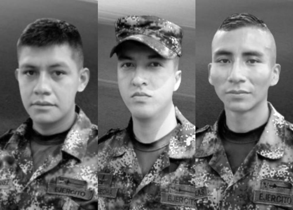 Soldados Juan Climaco Guetocue Volveras y  Januar Jhonatan Gutierrez Titimbo