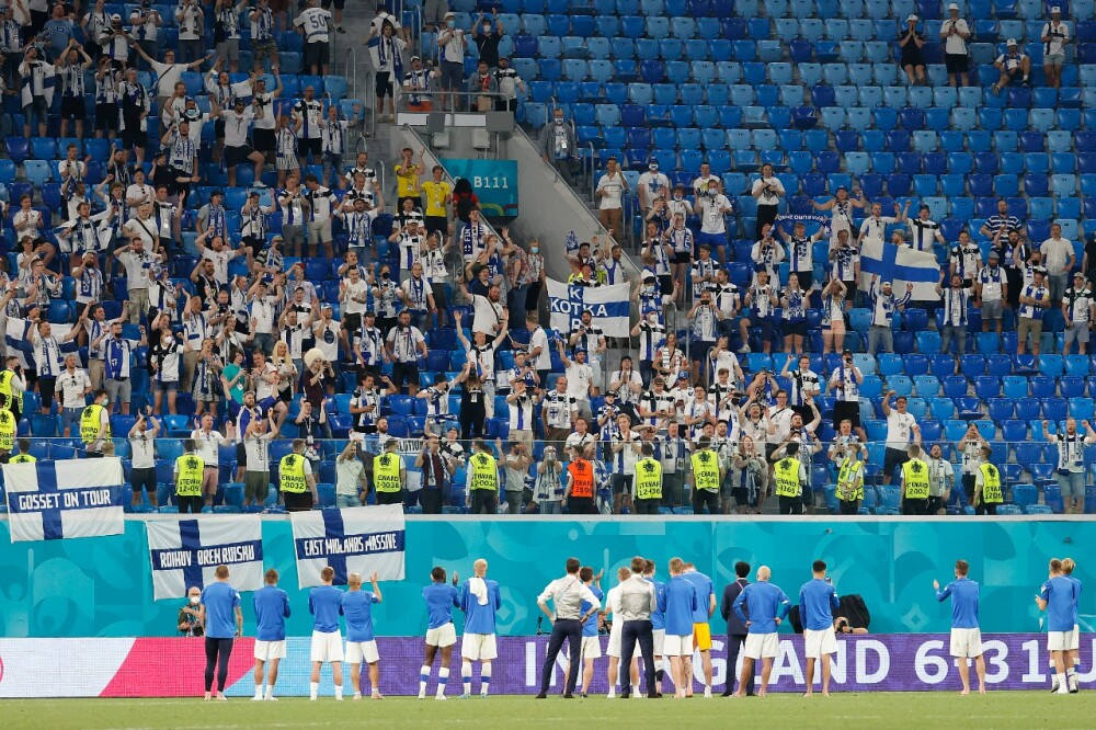 Aficionados de Finlandia en la Eurocopa AFP.