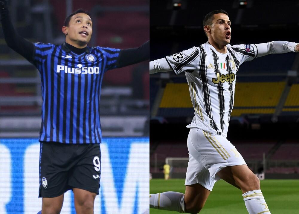 Luis Fernando Muriel y Cristiano Ronaldo. Foto: AFP